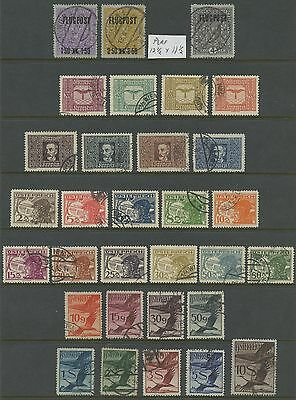 Austria~Air Post Airmail 5 Complete Sets C1-C31 Stamps~used~1918,1922,1925-1930