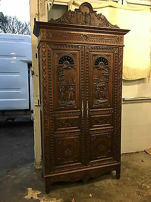Antique French Breton Armoire