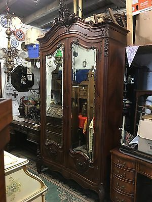 Antique Rosewood French Armoire Stunning Must See