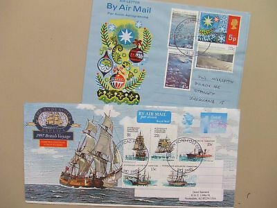 Two aerogrammes with Australian Antarctic Territory stamps