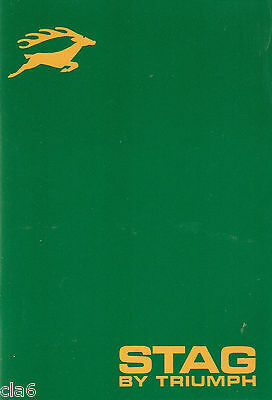 Triumph Stag Official Owners Handbook: 545105  *NEW