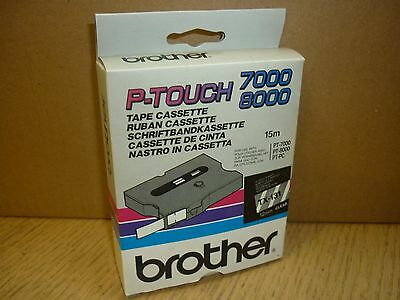 Brother TX-131 Black on Clear 12mm Laminating Tape for PT-7000/8000