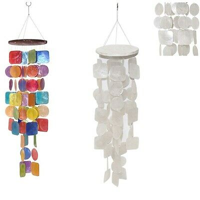 NEW 67CM Real Capriz Shell Wind Chime Mobile, Delightful Sound. Home Decorations