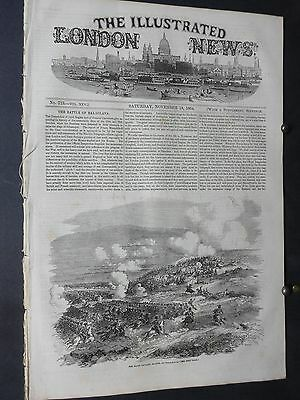 1854 Illustrated London News- Crimean War Charge of the Light Brigade Balaklava