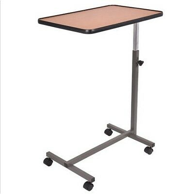 + Overbed Rolling Table Over Bed Laptop Food Tray Hospital Desk With Tilting Top
