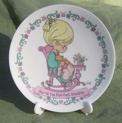 """Precious Moment Mini Collector Plate """"You're the Perfect Grandmother"""""""