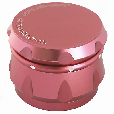 Chromium Crusher Drum 2.5 Inch 4 Piece Tobacco Spice Herb Grinder - Passion Pink