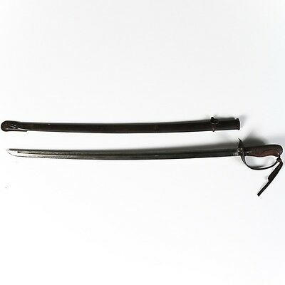 WW2 Imperial Japanese Army Sword TYPE 32 OTSU NCO SABER with MATCHING SCABBARD