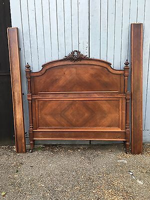 Antique Rosewood French Bed Paris Maker Matching Armoire Available