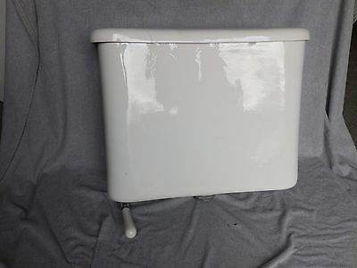 Antique White Porcelain Toilet Wall Mount Tank Lid Bottom Lever Flush 1908-16