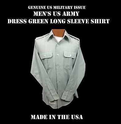 Shirt Mens Us Army Dress Green Long Sleeve Class A B Uniform S M L Xl Many Sizes
