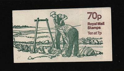 FD4a  STONEWALLING 70p LEFT MARGIN STAMP BOOKLET MACHIN HAS CYLINDER 11