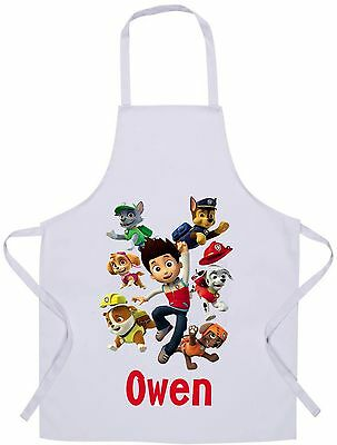 Personalised Kids Paw Patrol Apron - Baking/Cooking - 60x42cm