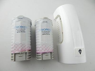 AW60D Airworks Passive 60 Day Odor Control Dispenser with 2 Refill Cartridges