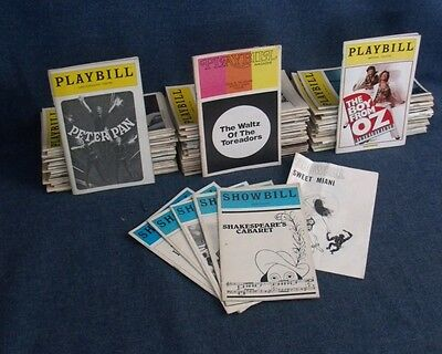 Lot of 88 Playbill / Showbill / On Stage Program Booklets, 1960's - 2000's