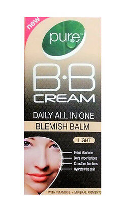 NEW! Pure B.B Cream Daily All In One Blemish Balm With Vitamin E *Light* 30 ml