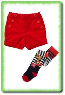 BNWT NEXT GIRLS  FAB SHORTS TIGHTS  FLOWERS SET 3-4 Years Autumn Winter