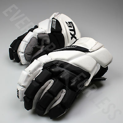 NEW STX Stallion HD Lacrosse LAX Gloves - Black/White Lists @ $150
