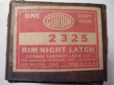 Vintage Corbin Rim Night Latch Lock # 2325 Cast Iron Lock