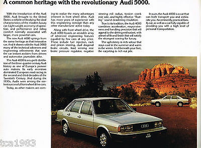 1979 / 1980 AUDI 4000 Series Brochure / Catalog / Prospekt