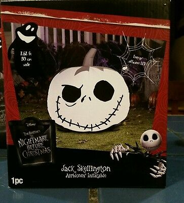 Disney Nightmare Before Christmas Jack Skellington Pumpkin Airblown Inflatable