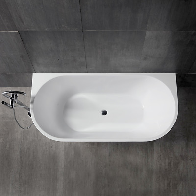 Bathroom Free Standing Bath Tub 1700x800x600 Back To Wall Freestanding REN191
