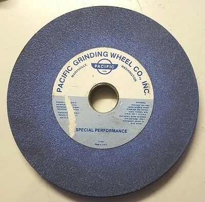 """Pacific Grinding Wheel Co. 8"""" x 0.75"""" Wheel Sharpening Wet Stone 1.25"""" Bore"""