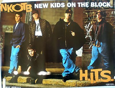 Rare New Kids On The Block Hits 1990 Vintage Music Record Store Promo Poster