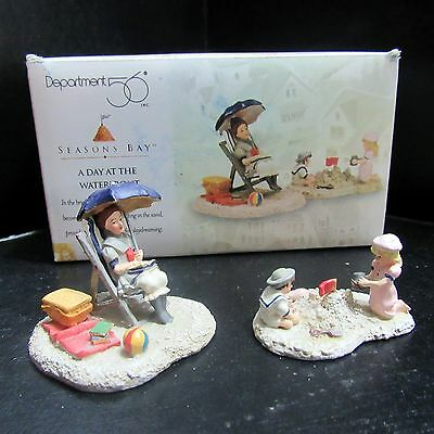 Dept. 56 Seasons Bay A Day at the Waterfront Set of 2 #53326 Hand Painted 1998