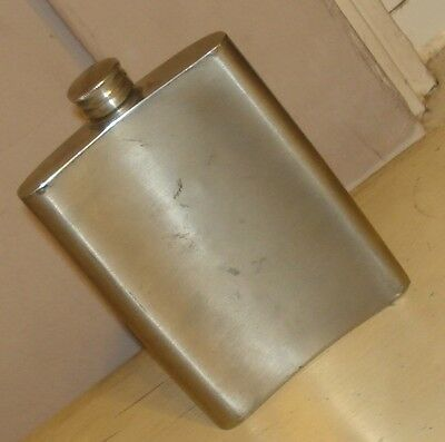 Vintage Antique English Pewter 6 Ounce Liquor Flask - Sheffield England