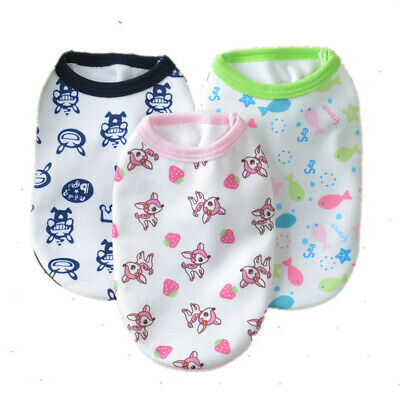 Lovely Chihuahua Teacup Dog Clothes Puppy Vest  Soft Cat Clothing XXXS/XXS/XS