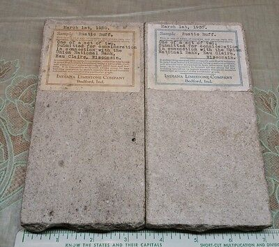 Old Salesman Sample LIMESTONE Stone Union National Bank Eau Claire WI Bedford IN