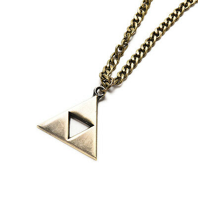 Bronze The Legend of Zelda Triforce Cosplay Alloy Necklace Pendant triangles QW