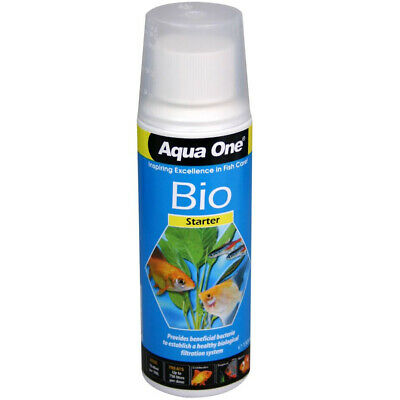 Aqua One Bio Starter Aquarium Fish Tank Filter Water Bacteria Kick Start 150ml