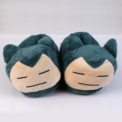 Pokemon Center Snorlax Plush Slippers Cosplay Warm Plush Shoes for Adult US ship
