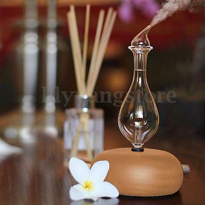 Wood & Glass Aromatherapy Essential Oils Diffuser Air Nebulizer Humidifier