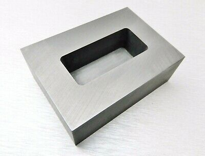 5oz GRAPHITE INGOT MOLD for SILVER MACHINED GRAPHITE MELT & POUR MAKE BAR - LOAF
