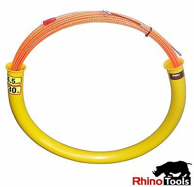 30 metre X 4.5mm Conduit snake  Cable installation rodder electricians fish tape