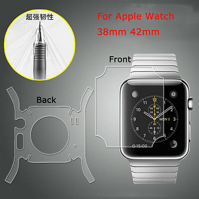 TPU Front Back 360 Degree Full Body Screen Protector For Apple Watch iWatch 42mm