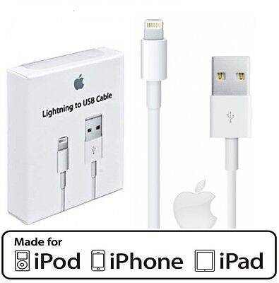 2X iPhone Lightning USB Data Charger Cable For iPhone 7 7+ 6 6s 5s 5c 5 iPad Air