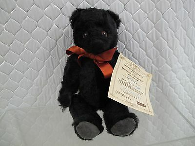 DEANS RAG BOOK DOLL NEAL MILLE ERNEST BLACK FULLY JOINTED BEAR  xt