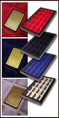 Display Case Box Black Divided Compartments Suitable For 20 Collectable Lighter