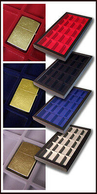 Display Case Box Red Divided Compartments Suitable For 20 Collectable Lighter