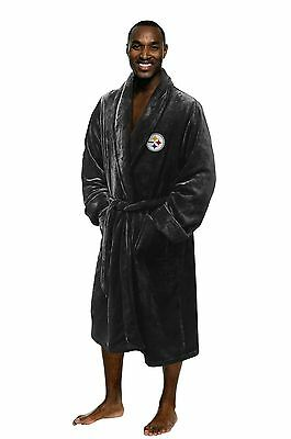 NFL Pittsburgh Steelers Silk Touch Men's Bath Robe - Large/Extra Large
