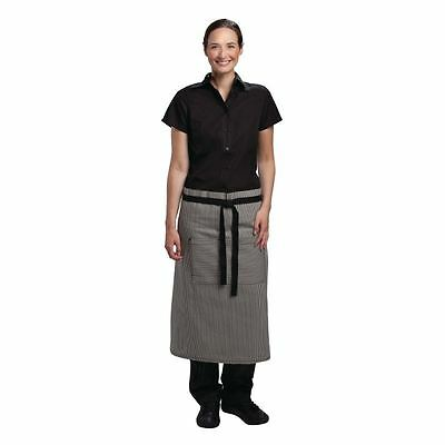 Chef Works Portland Fine Stripe Bistro Apron Grey Kitchen Catering Cooking
