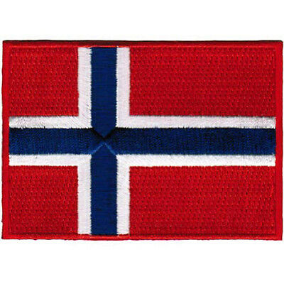 NORWAY FLAG embroidered PATCH NORWEGIAN EMBLEM applique Kongeriket Norge