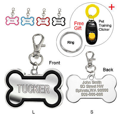 Bone Shape Custom Dog Tags Personalized Cat ID Tag Engraved for FREE Dog Gift