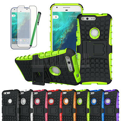 Rugged Tough Hybrid shockproof Armor Stand Gel case cover For Google Pixel / XL