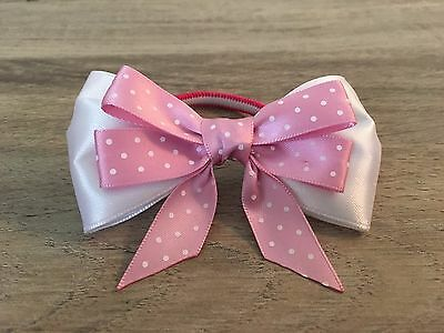 Elastic hairband Ponytail Holder Pink Bow