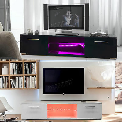 Westwood Modern LED TV Unit Stand Cabinet – High Gloss Doors Matte Cabinet TVC12